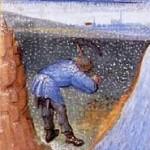 travaux des paysans au mois de Janvier