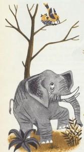 Oiseau et éléphant
